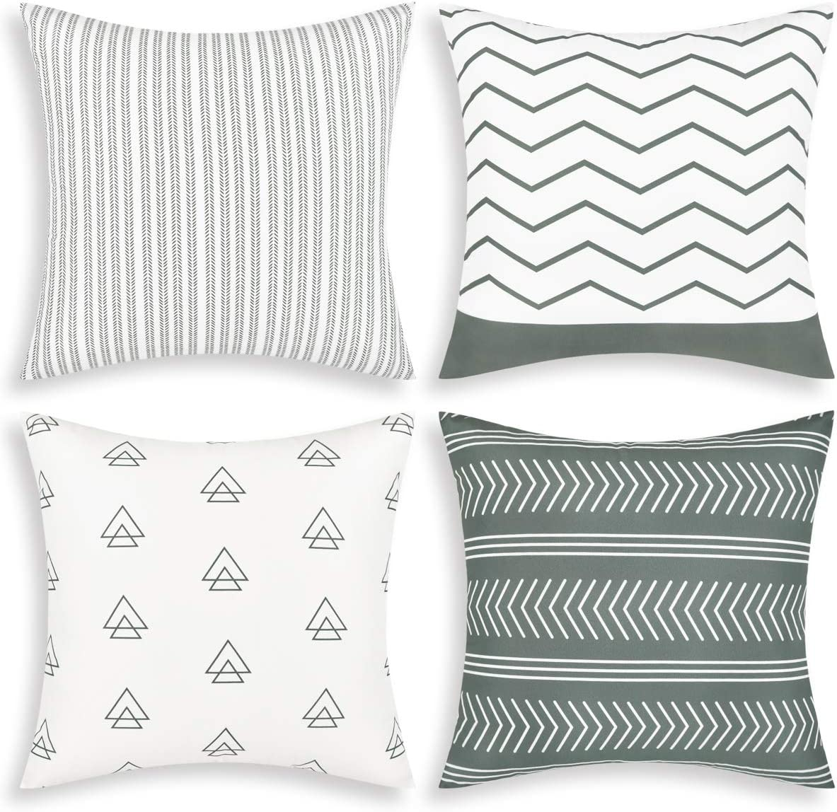Fascidorm Discount is also underway Set of 4 Pillow Covers 18 Inch Throw Case Luxury goods x