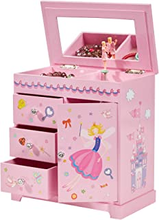 Mele & Co. Krista Ballerina Music Jewelry Box for Girls, Necklace and Earring Organizer