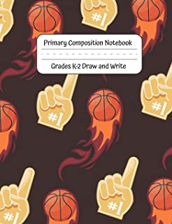 Primary Composition Notebook: Grades K-2 Draw and Write 120 Pages Handwriting Practice Workbook - Dotted Middle Line With ...