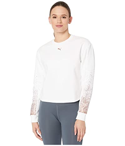 PUMA Holiday Pack Crew Fleece Sweatshirt (White) Women