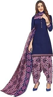 Jevi Prints Women's Cotton Printed Readymade Stitched Salwar Suit Dupatta (SUIT_CP-239)