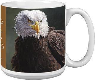 Tree-Free Greetings Extra Large 20-Ounce Ceramic Coffee Mug, Bald Eagle Themed Wildlife Art (XM29696)