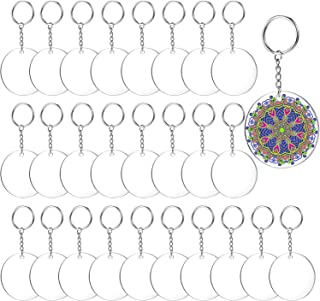 Best 2 Inch Acrylic Keychain Blanks | Clear Blank Acrylic Keychains for vinyl, 30 Pcs Acrylic Circle Discs Come with 30 Metal Key Chain Rings, Perfect for DIY Monogram Keychains and Gift Tags Review