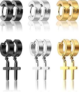Best hoop earrings for men with cross Reviews