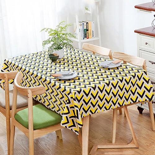Li jing home Tischdecken nordische Mode geometrische Tischdecken personalisierte Tischdecken Kaffeetischdecke quadratische Tabelle Staub Tischdecken (Farbe   Gelb, Größe   140  240cm)