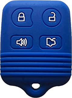 KAWIHEN Silicone Key Fob Cover Case Protector Smart Remote Control Shell Keyless Entry Case Holder Cover For Ford Mustang Edge Escape Expedition Explorer Focus Escort Lincoln Mercury CWTWB1U331