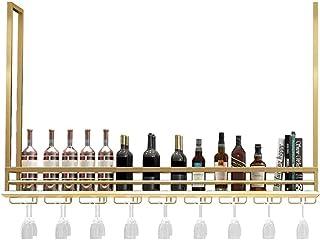 HZWLF Armoire à vin Suspendue casier à vin, Cintre, étagère, Rangement décoratif, Cintre de comptoir de Bar, Porte-Verre à...