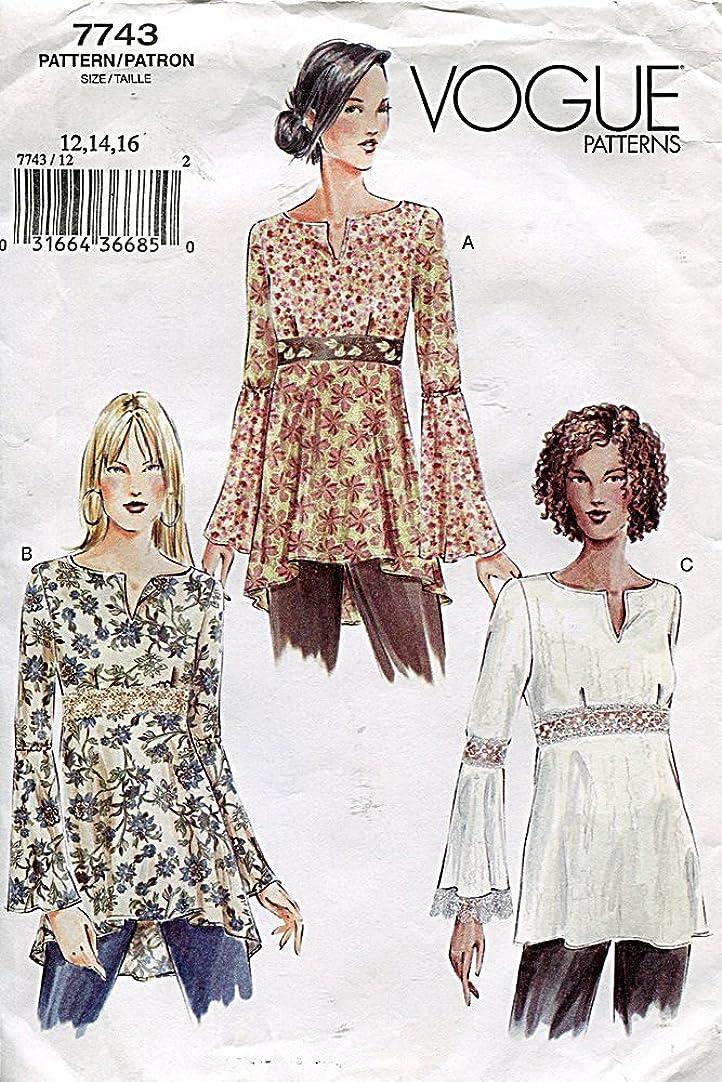 Vogue Pattern 7743 Misses'/Misses' Petite Top, Size 12-14-16