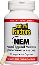 Natural Factors, NEM Natural Eggshell Membrane, Promotes Joint Comfort and Flexibility with Collagen, Chondroitin and Hyaluronic Acid, 60 capsules (60 servings)