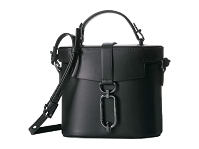 Botkier Brooklyn Canteen (Black) Cross Body Handbags