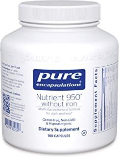 Pure Encapsulations - Nutrient 950 Without Iron - Hypoallergenic Multi-Vitamin/Mineral Formula for Optimal Health* - 180 Capsules
