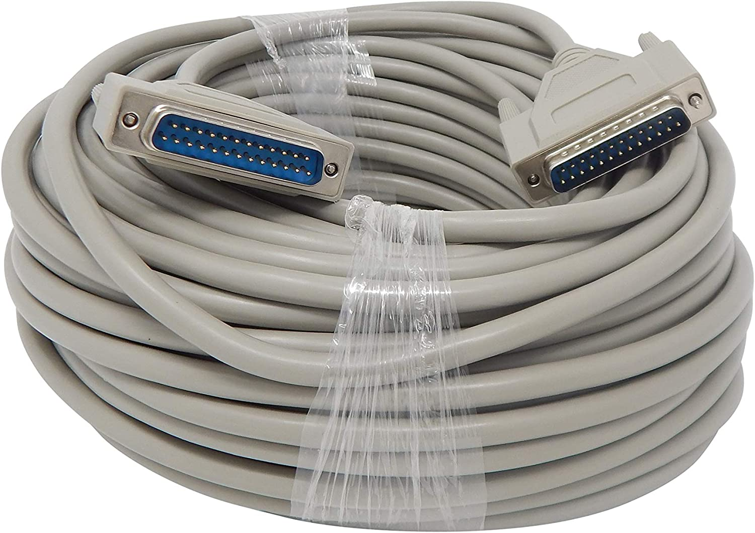 Sf Cable 25ft DB25 Straight Thru Molded Cable Modem or Other DB25 Device to a Switchbox. M//M Serial RS232 Extension Cable Connect Printer