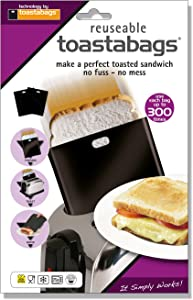 Toastabags Toast Bags 300 use (Pack of 5), Acrylic, Black