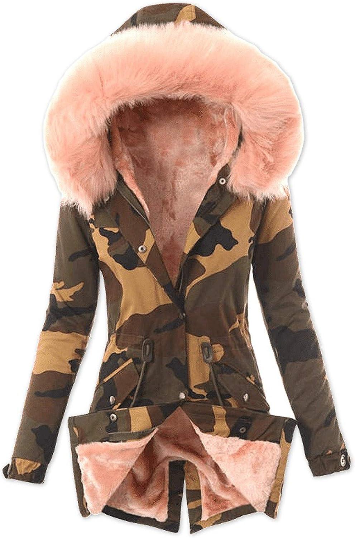 MRULIC Kapuzenjacke Damen Outwear Langarm Warm Bequem Kapuzenpullover Herbst Winter Mantel Jacke Tops Hoodie Sportswear Kapuz Trenchcoat Wollmantel Rosa