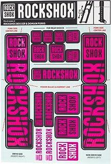 RockShox Decal Kit 35mm Dual Crown Magenta