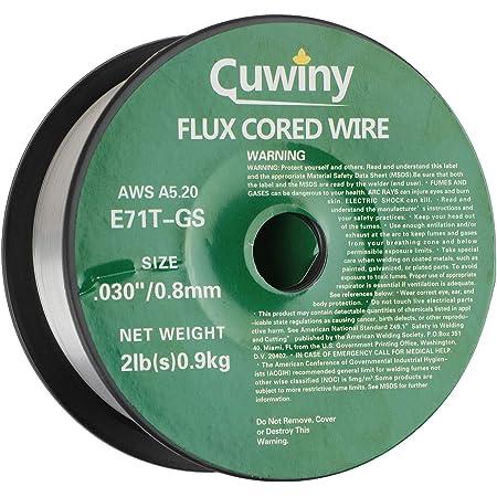 WGWJM Gasless Flux Cored Welding Wire,Mild Steel AWS E71T-GS.030-Diameter 2-Pound Spool