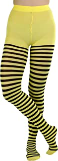 ToBeInStyle Women's Nylon Horizontal Striped Tights