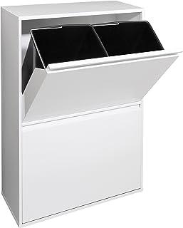 Arregui Basic Cubo de Basura y Reciclaje de Acero con 4