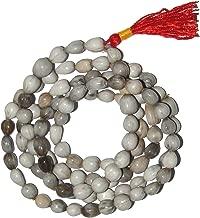 Malabar Gems Vaijayanti Mala 108+1 Beads For Unisex - Off White