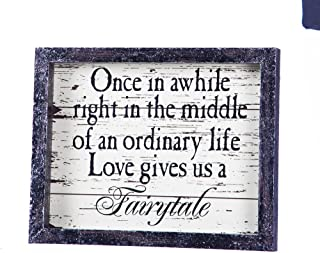 """Cypress Home Love Gives Us a Fairytale Wooden Tabletop Plaque - 8""""W x 1""""D x 10""""H"""