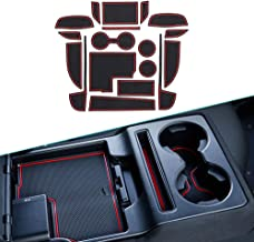 Muchkey für 2017 2018 CX-5 CX5, Anti-staub Rutschfeste Innentür, Tasse, Arm Box, lagerung Matte Innentür Gummimatten Anti Rutsch Matten Rot 18 Stück pro Satz