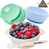 Suction Plates for Toddlers by Juliaire Unicorn Plate Baby-Safe Silicone Table-Tot 3-Compartment Plate for Kids