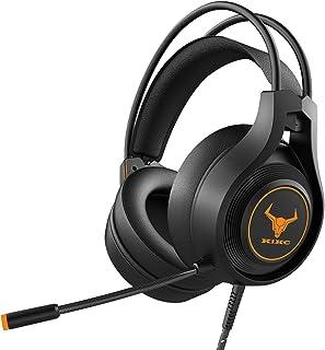 Kikc V3 Auriculares Gaming, Auriculares para Xbox One, PS4, Auriculares Estéreo de 3,5 mm con Micrófono con Cancelación de...