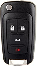 cciyu Replacement Keyless Entry Remote Car Key Fob Clicker Transmitter Alarm 1 X 4 Buttons Replacement fit for Chevy Camaro/Cruze/Equinox/Malibu OHT01060512