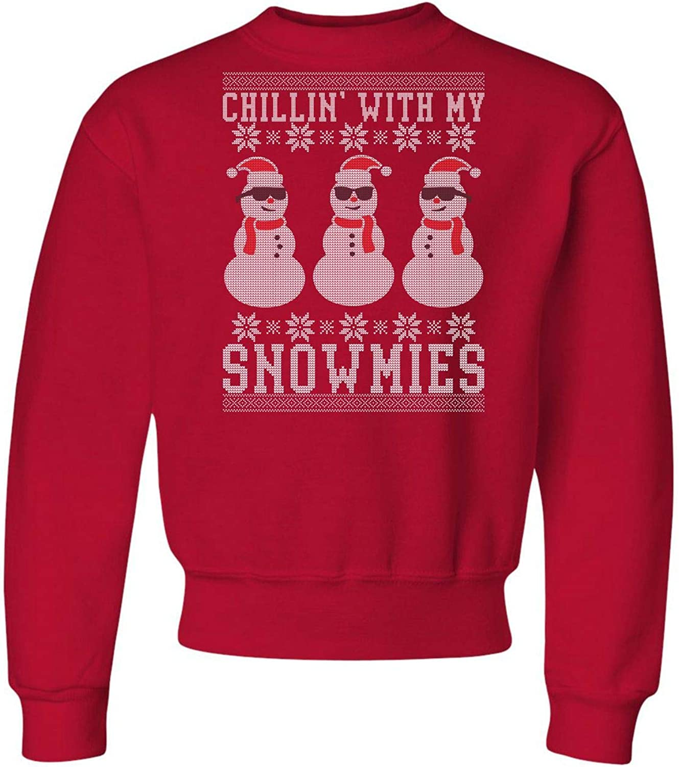 Go All Out Youth Chillin' With My Snowmies Crewneck Sweatshirt