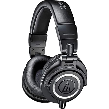 audio-technica プロフェッショナルモニターヘッドホン ATH-M50x ブラック スタジオレコーディング / ミキシング / DJ /トラックメイキング