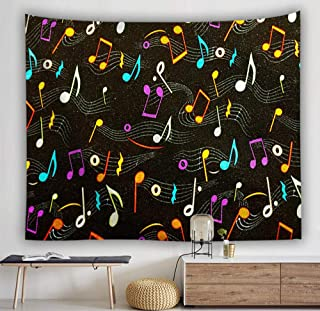 RTEAQ Tapiz Tapiz de Nota Musical Tapiz Colgante de Pared decoraci/ón del hogar rect/ángulo Dormitorio Arte de la Pared Tapiz Dormitorio decoraci/ón-39x59inch