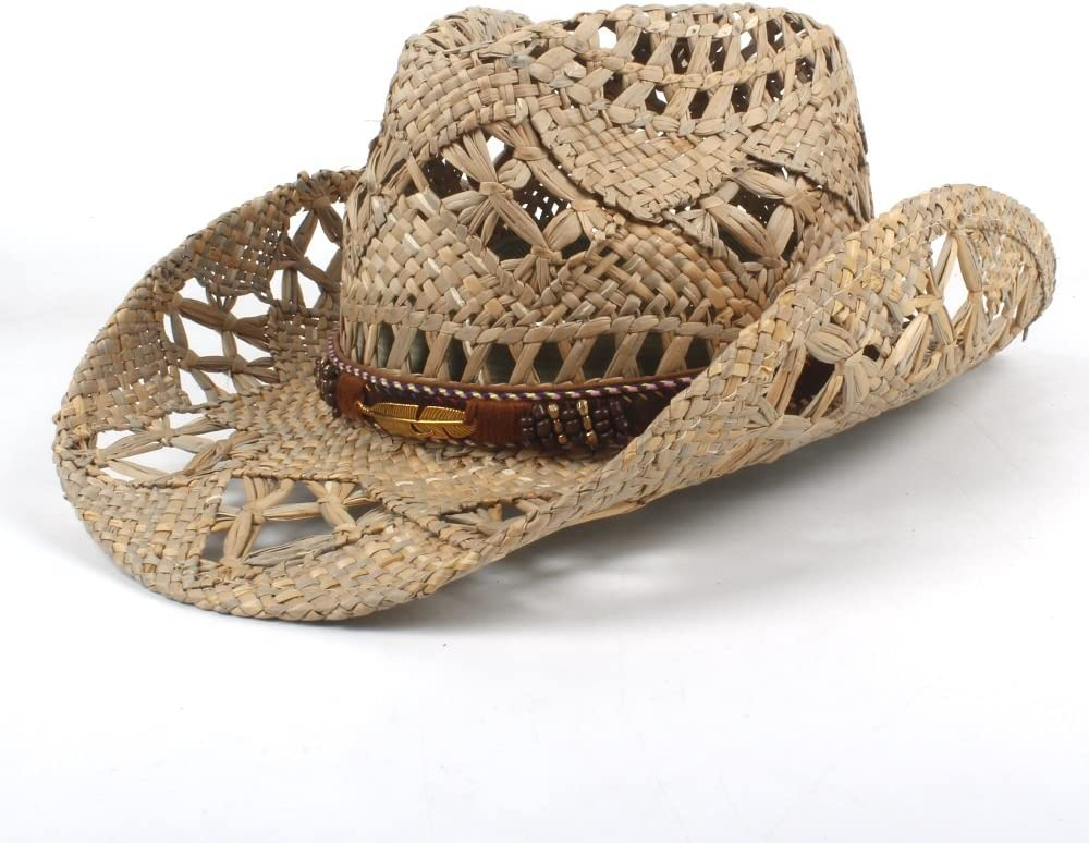Zhukeke Fashion Women Men Western Cowboy Roll-up Brim C Hat Wide Boston Ranking TOP6 Mall