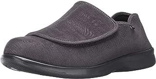 Propet Men's Cush N Foot Slipper, Slate Corduroy, 11.5 5E US
