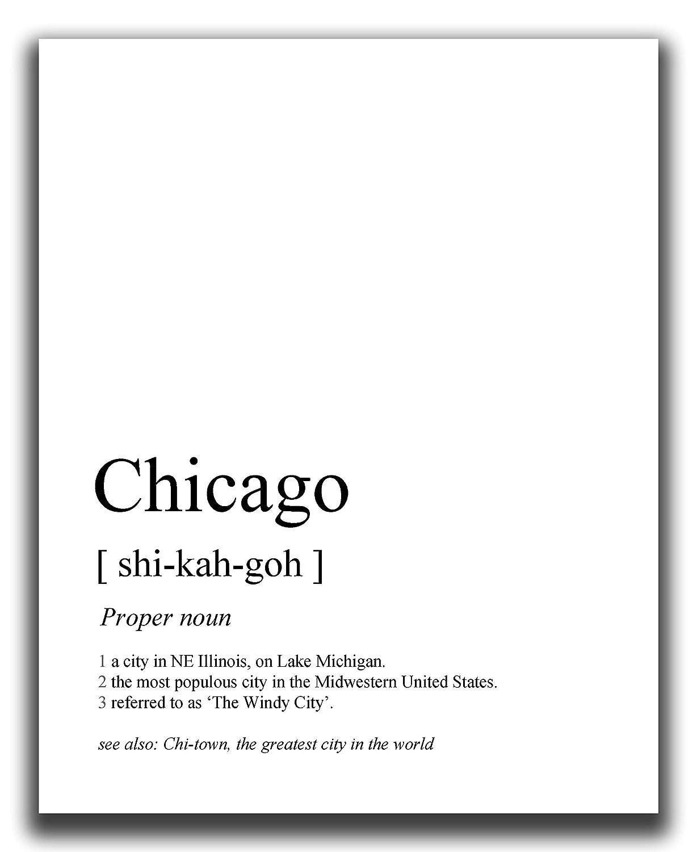 Chicago Wall Decor - 8x10