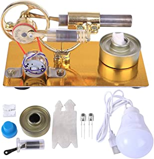 Akozon Motor Stirling 180-200 RPM Baja Temperatura Stirling Motor Motor Calor de Vapor Regalo de Juguete Modelo Educativo para ni/ños Craft Orname