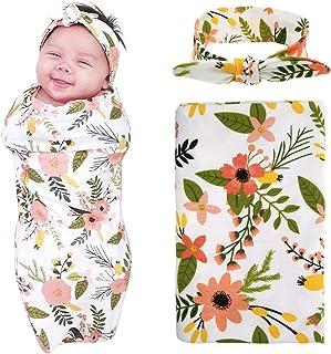 Newborn Baby Blanket and Headband Value Set Photography Orange Daisy