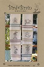 Happy Halloween Tea Towels Embroidery Pattern by Robin Kingsley from Bird Brain Designs 403