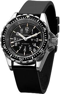 Marathon - Reloj WW194026 Swiss Made Militar Diver's Reloj automático de tamaño mediano con tritio (36 mm) - Correa de goma o pulsera de acero inoxidable (US o NGM)