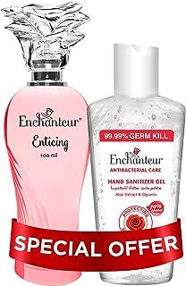 Enchanteur Eau de Toilette(EDT) 100Ml + 100Ml Hand Sanitizer Gel Free (Enticing)