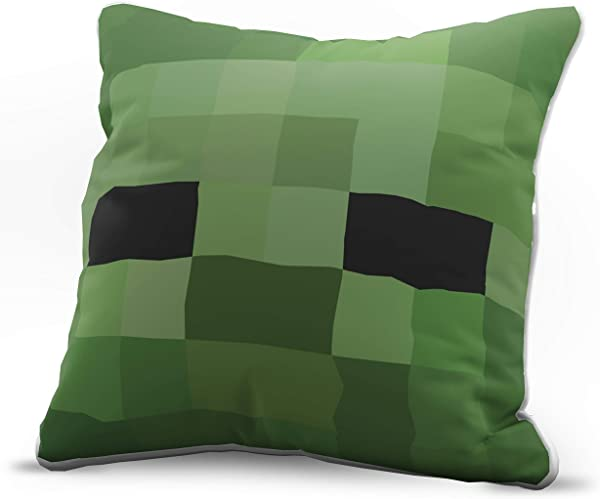 Jay Franco Minecraft Zombie Decorative Pillow Cover Kids Super Soft 1 Pack Throw Pillow Cover Measures 15 Inches X 15 Inches Official Minecraft Product