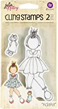 Prima Marketing Julie Nutting Mixed Media Cling Rubber Stamps, 3.5-Inch by 5.5-Inch, Adara