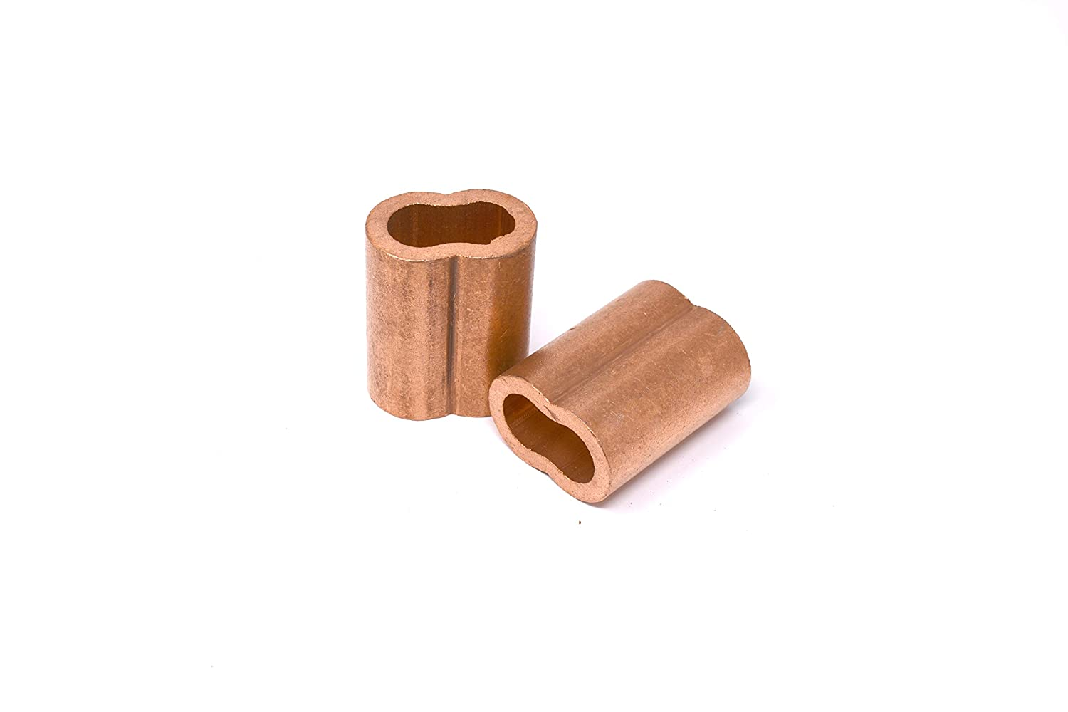 Oval Duplex Wire Rope Cable Crimping Loop Fittings 1//2 inch Pack of 1 SwageRight MIL-SPEC Copper Swage Sleeves Clip /& Ferrules