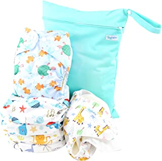 Apple /& Pear Salad Modern Cloth Reusable Washable Baby Nappy Diaper /& Insert