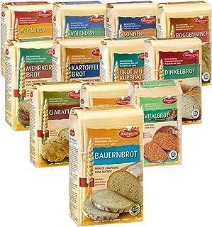 BIELMEIER KÜCHENMEISTER Brotbackmischung 12-teiliges Kennenlern-Set á 1000 g made in Germany