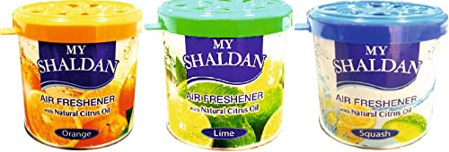 My Shaldan Combo Pack of Orange, Lime and Squash Air Fresheners (80 g Each)
