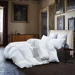 Premium Daunendecke Bettdecke Extra Flauschig Hochwertige Füllung: 95% Gänsedaunen / 5% Feder Füllgewicht 840 Gramm Extra Warm 135x200 cm