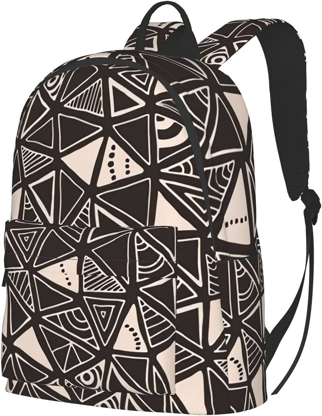 triangles - black and Popular overseas cream favorite Backpack Unis Laptop Travel