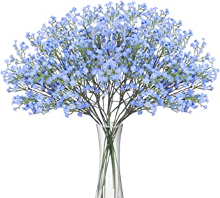 BOMAROLAN Artificial Baby Breath Flowers Fake Gypsophila Bouquets 12 Pcs Fake Real Touch..
