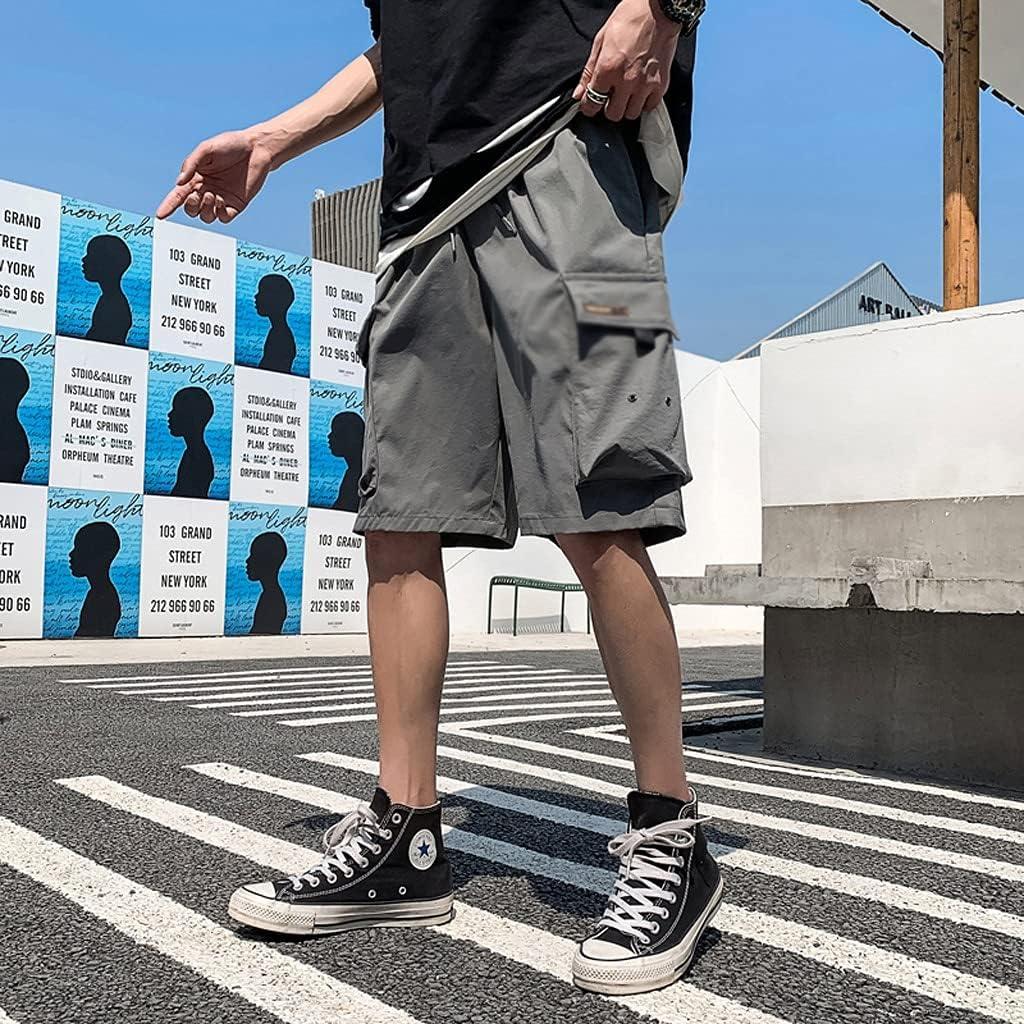 FENXIXI Plus Size Summer Blue Short Jeans Men Knee-Length Cotton Casual Baggy Trousers Male Striped Denim Shorts 6XL 7XL 8XL (Color : B, Size : 4XL)