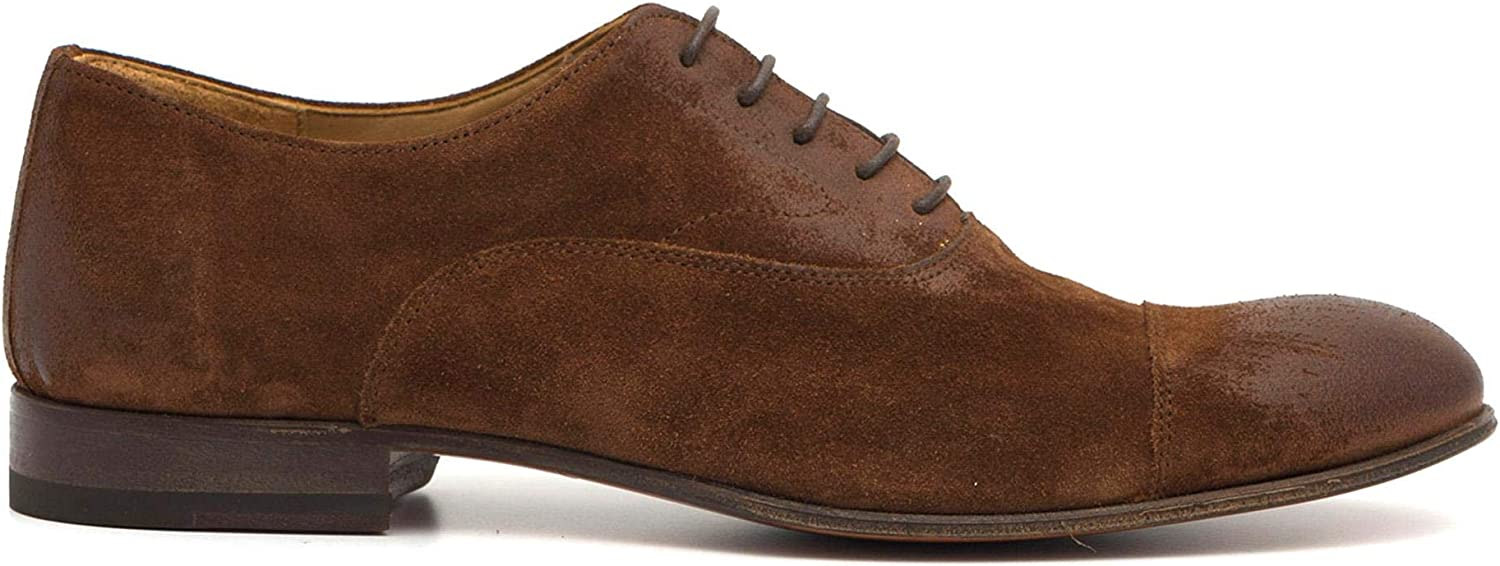 Oxford Shoes in Very Soft Brown Suede - 887 891LIGHT Cachemire Snuff - Size